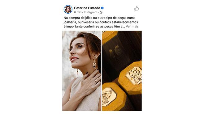 Catarina Furtado em parceria com Contrastaria