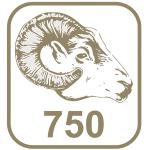 Marca ouro 750 cabeça de carneiro