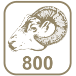 Marca ouro 800 cabeça de carneiro