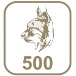 Marca paládio 500 cabeça de lince