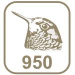 Marca platina 950 cabeça de beija-flor