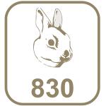 Marca prata 830 cabeça de coelho