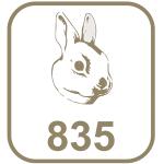 Marca prata 835 cabeça de coelho