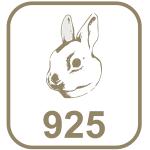 Marca prata 925 cabeça de coelho
