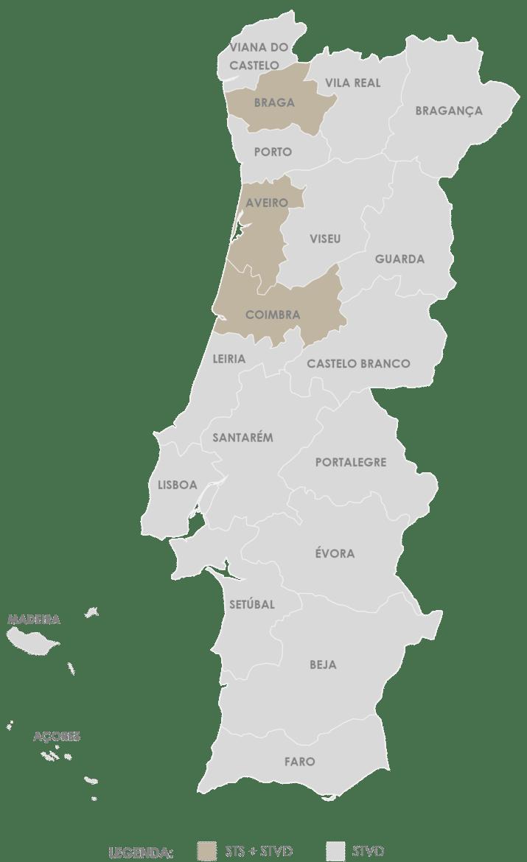 Mapa serviço de transporte