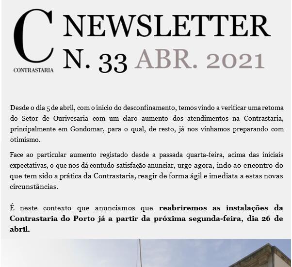 Newsletter 33 - abril 2021