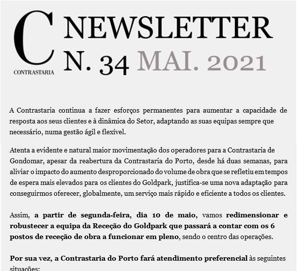 Newsletter 34 - maio 2021