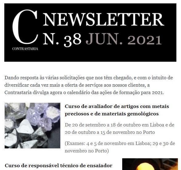 Newsletter 38 - junho 2021